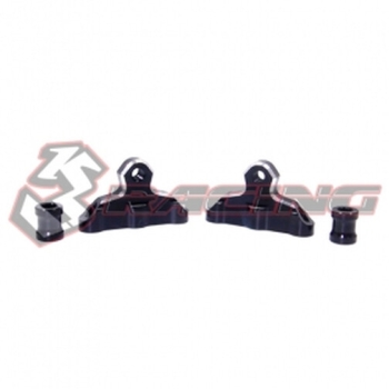 3Racing - Aluminum Damper Mount Locker, 7mm Post for Crawler EX