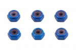 Factory Team - LOCKNUTS, 4-40, BLUE ALUMINUM